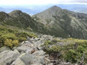 Hiking the presidential traverse in the White Mountains
